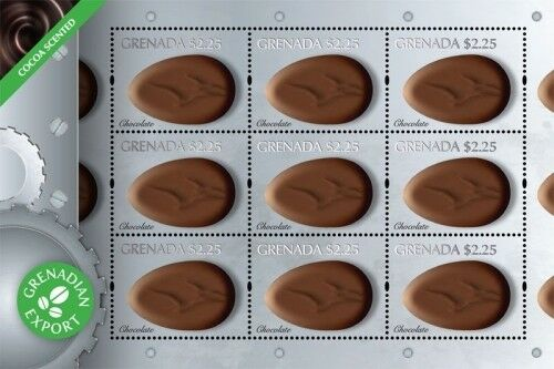 Grenada - 2011 Scented Chocolate Delicacies Sheet of 9 MNH