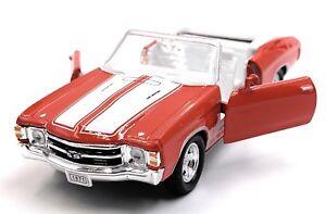 1971-Chevrolet-Chevelle-Ss-454-Rosso-Modellino-Auto-Auto-Scala-1-3-4-Licenza