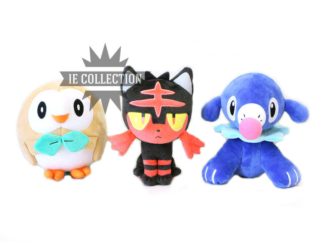 Pokemon Sonne und Luna set 3 Plüsch Starter Litten popplio rowlet Puppen 3ds sun
