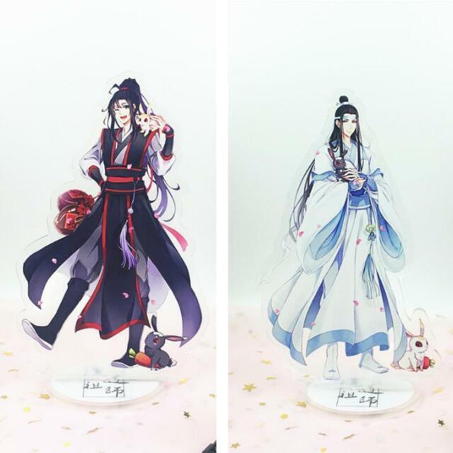 New Anime 2pcs Mo Dao Zu Shi Lan WangJi Wei WuXian Acrylic Stand Figure Model