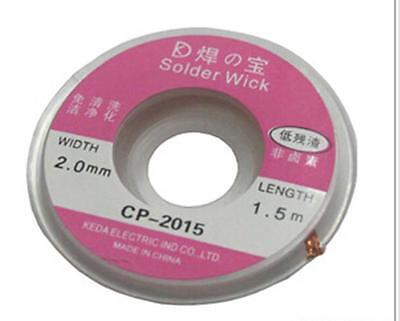 YO CA 2014 New 2.0mm Useful Desoldering Braid Solder Remover Wick CP-2015