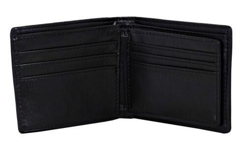Shagwear Skull Pattern Men/'s Bi-Fold Faux Leather Wallet Black