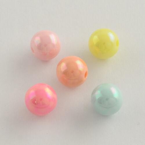 10 Stück Acrylperlen 18mm AB Farbe Acryl Perlen Bunt 2407