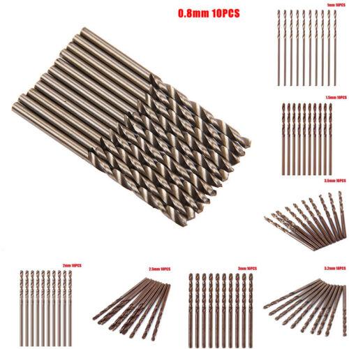 10 Stk Edelstahlbohrer 1-3,5mm Spiralbohrer Metall Stahl Bohrer Metallbohrer