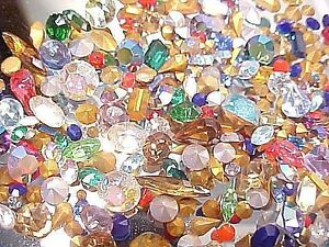 Image Is Loading 230 Swarovski Crystal Vtg Loose Rhinestones Huge Lot