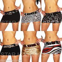 Mini-Rock Gürtel Gogo Clubwear kurz Party Rock Stretch Minirock S M L 36 38 40