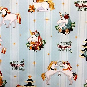 Christmas Unicorn Wrapping Paper FOUR Sheets SAVER Gift Wrap Cute ...