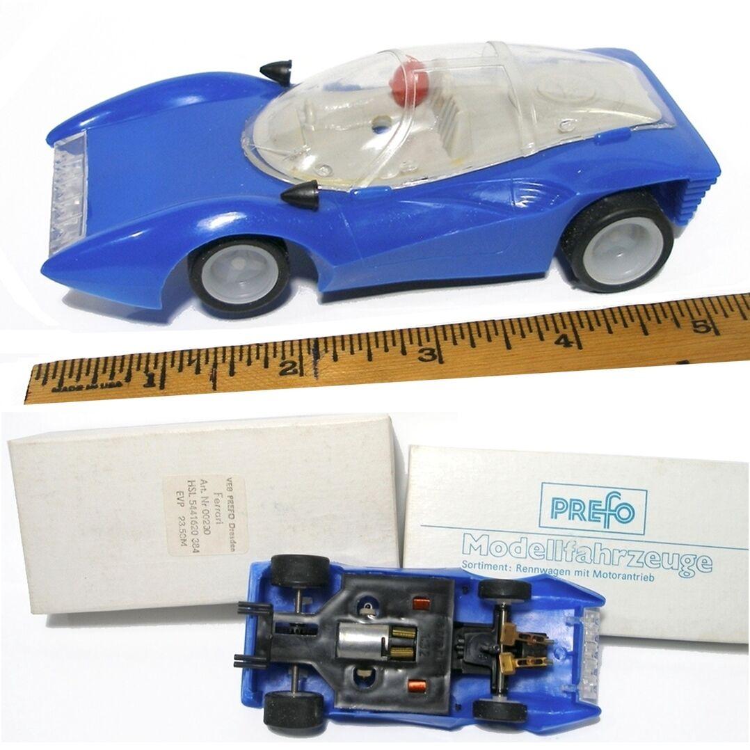 1970 ist deutscher ddr 1   32ish ferrari p5 prefo slot car v. selten boxed und nicht blau