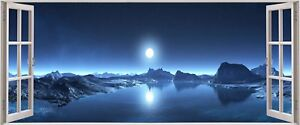 Huge-3D-Panoramic-Fantasy-Space-Planet-Window-View-Wall-Stickers-Mural-430