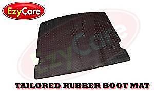 Mazda 2 Tailored Black RUBBER Boot Rear MAT Black LINER HD 2007-2015
