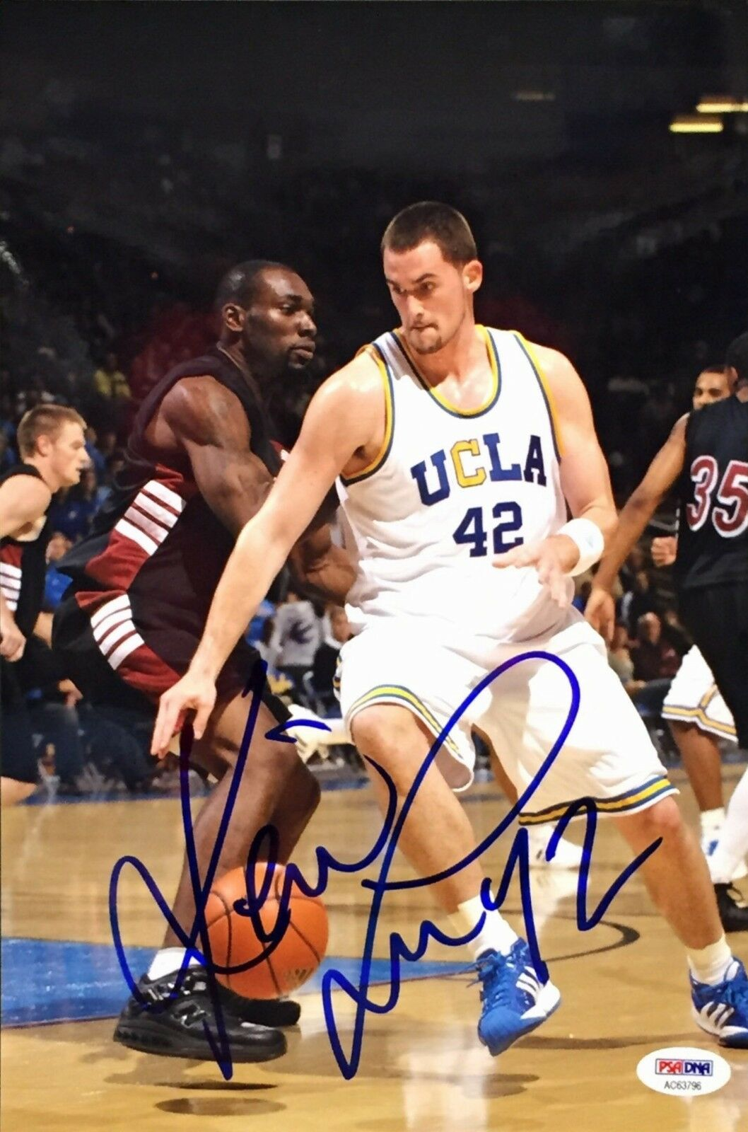 Kevin Love Signed 8x12 UCLA Basketball Photo PSA AC63796
