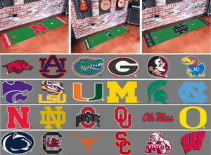 NCAA-Golf-Putting-Runner-Mat-Area-Rug-Choose-Your-Team