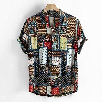 Mens Ethnic Style Pattern Printing Casual Fashion Shirts
