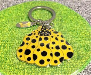 YAYOI-KUSAMA-039-Love-Forever-039-Pumpkin-Key-Ring-Keychain-Yellow-NEW