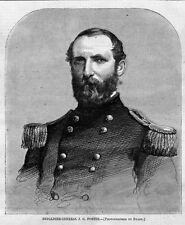 BRIGADIER GENERAL J. G. FOSTER PORTRAIT COMMANDER OF GOLDSBOROUGH NORTH CAROLNIA