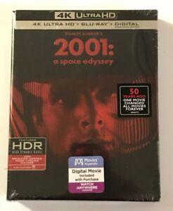 2001-4K-UHD-Blu-Ray-Digital-HD-Slip-Case-New-Sealed-Mint-Best-Buy-w-Post-Cards
