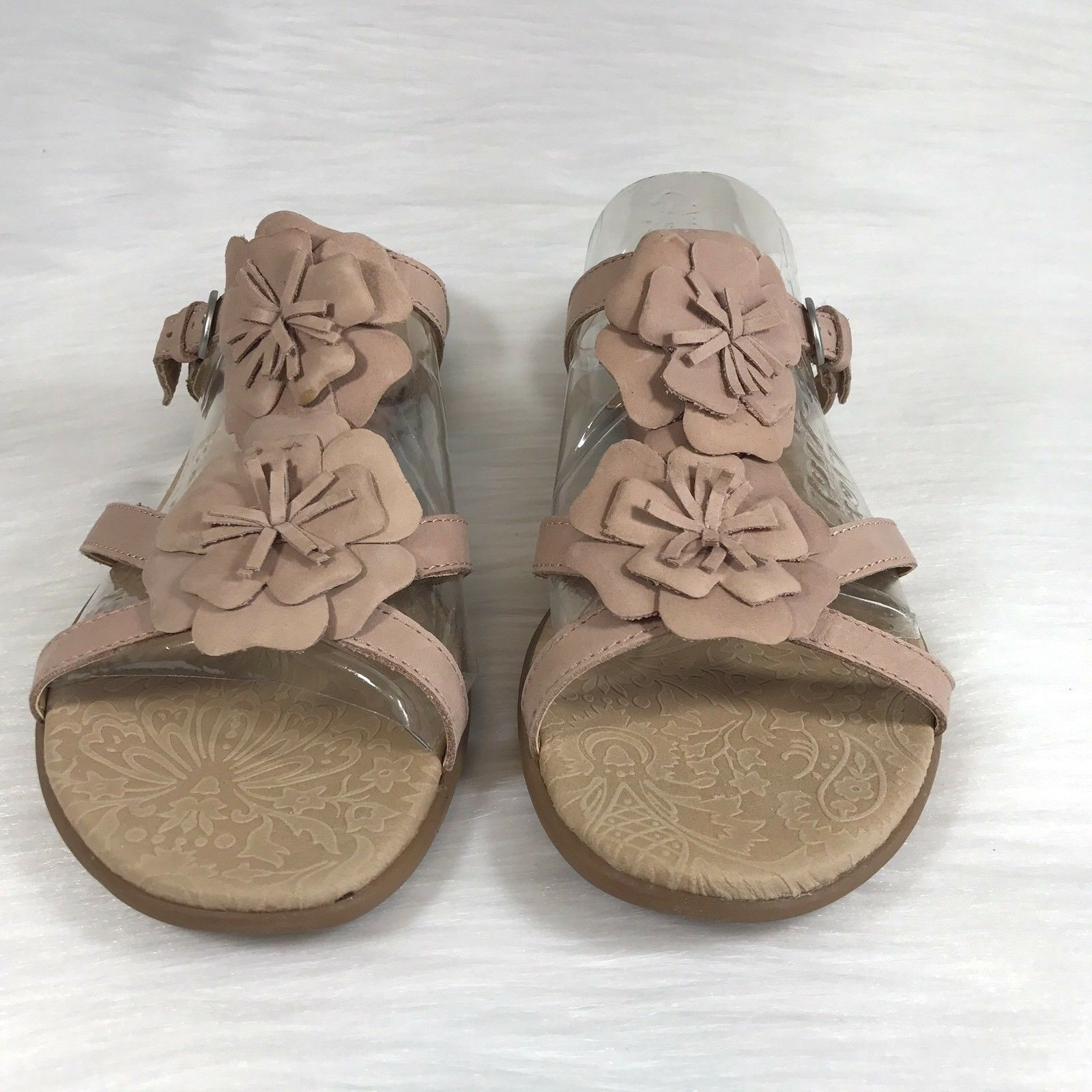 Born Concept Mujer Boc por 11 M Sandalias De Cuero Cuero Cuero rosado Floral De Diapositivas  Tu satisfacción es nuestro objetivo
