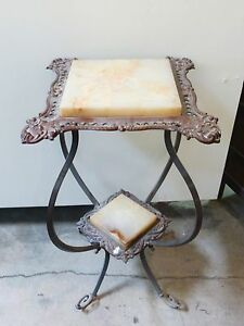 Vintage-Marble-Side-Table-Stand-French-Provincial