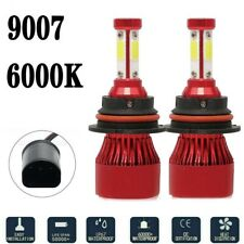 9007 Hb5 Led Headlight Bulbs Kit High Low Dual Beam 6500k Super White 4 Sides Fits Plymouth Breeze