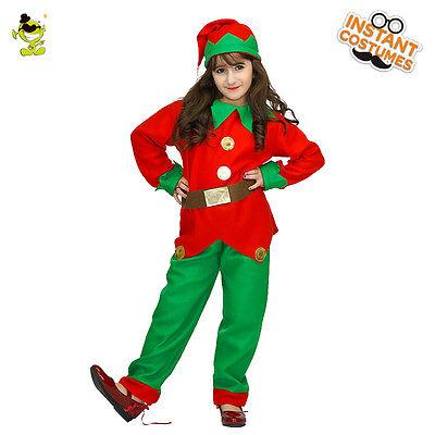 Girls Lively Elf Costume Children Xmas Party Pretty Eidolon Decoration Clothing