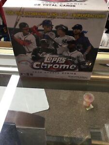 Topps Chrome 2020 Update Series Baseball Mega Box MLB Factory Sealed!