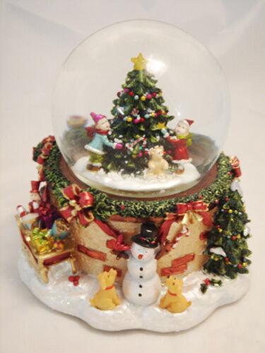 Schneekugel Schneekugel Schneekugel Spieluhr Glitzerkugel Weihnachtsbaum 50006 74bd9f