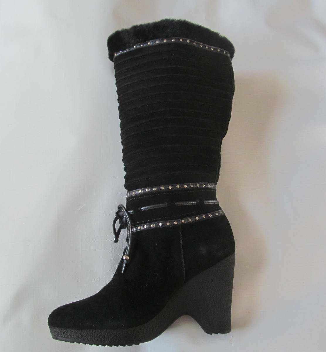 NEW Cole Haan Suede Black Boots size size size 5.5 a0e6bf