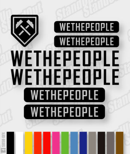 We The People decals stickers sheet die-cut cycling, mtb, bmx, road, bike