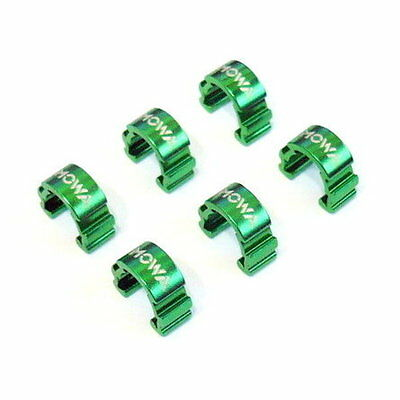 gobike88 MOWA C-Clip Cable Guide for MTB, 6 pieces, Green, A78