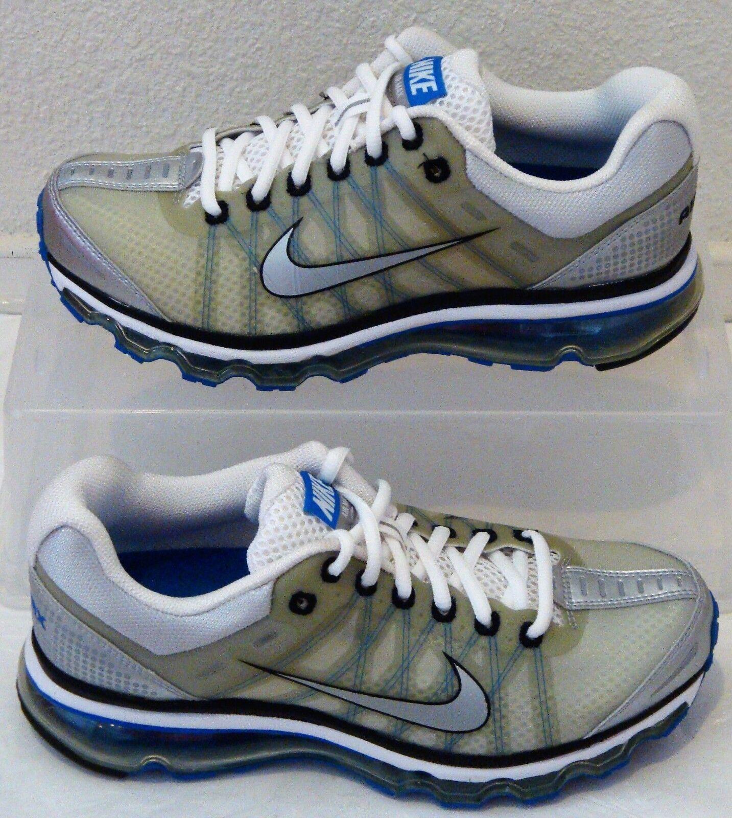 New Nike Air Max 2009 Silver Sapphire Sapphire Sapphire bluee Grey Mens US Size 7 3a91e1