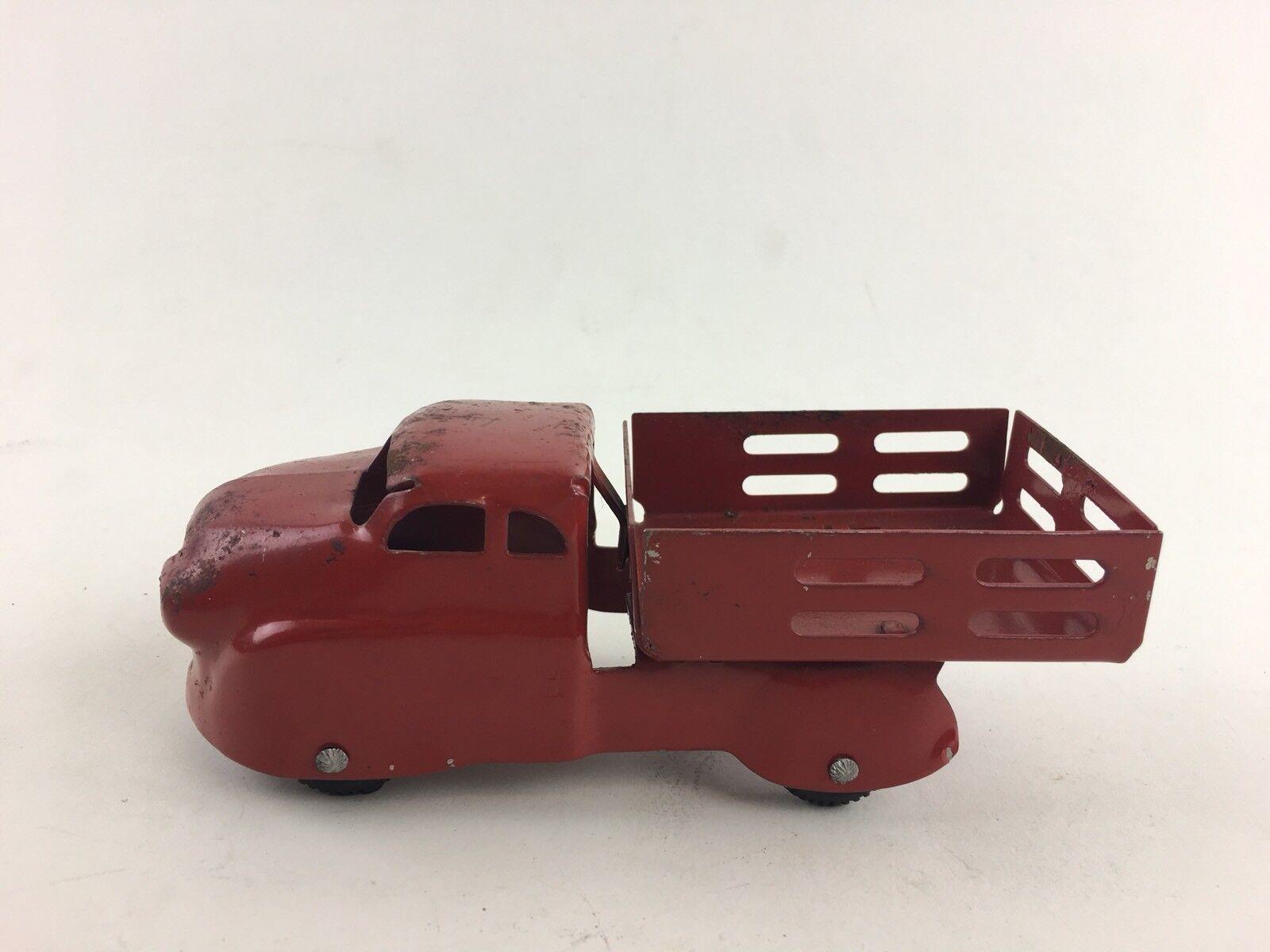 """Jahr Wyandotte rot Pressed Steel 6"""" Stake Delivery Truck"""