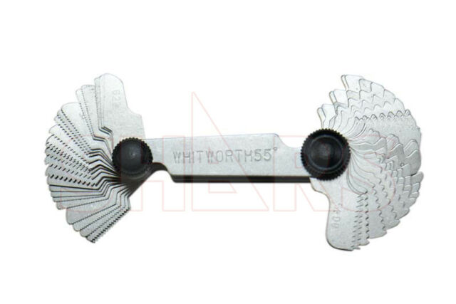 Whitworth Screw//Thread Pitch Gauge Metric//Imperial  0.25-6mm//4-62 BSW 52 leaves