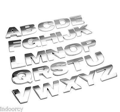 3D DIY Metallic Alphabet Number Car Stickers Emblem Letter Decals Buy2 get1 Free