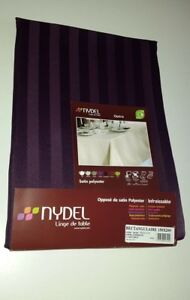 Details About Nydel Opéra Nappe Rectangulaire 150cmx200cm Infroissable Aubergine