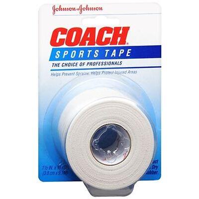 JOHNSON - JOHNSON COACH Sports Tape 1-1/2 Inches X 10 Yards