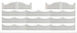 BUSCH-HO-scale-FILLIGREE-GARDEN-FENCES-model-scenery-6009
