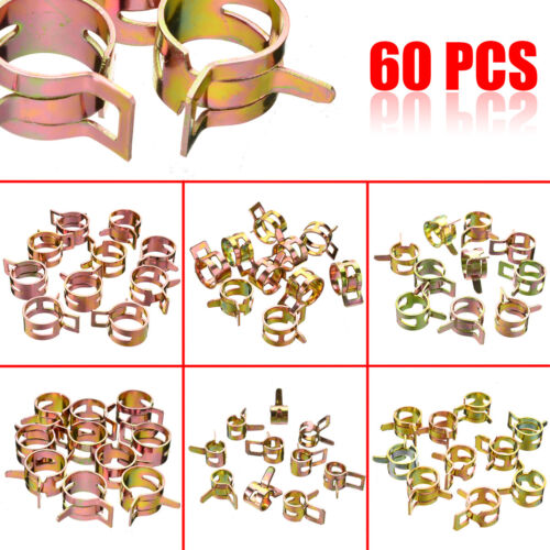 UK 60X Fuel Line Hose Spring Clips Water Pipe Air Tube Clamps 7//10//11//14//16//17mm