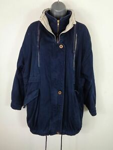 WOMENS-PHASE-NAVY-BLUE-ZIP-BUTTON-UP-ADJUSTABLE-CASUAL-WINTER-COAT-JACKET-UK-10