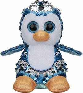 Ordonné Peluche Pingouin Girabrilla Avec Sequin Paillettes Yeux Glitter 15 Cm MatéRiaux De Qualité SupéRieure
