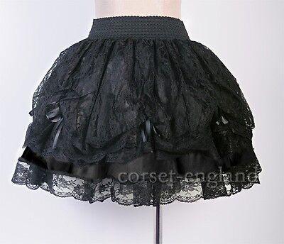 Sexy Gothic Black Lace Lolita Mini Skirt Size S-6XL Punk Ruffles Tiered CE A2488