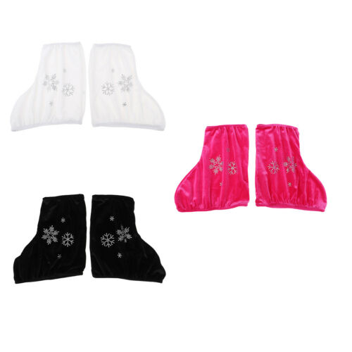 2 Pcs Fashion Ice//Figure Skate Boots Shoes Cover with Snow Flake Design