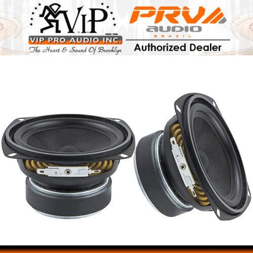 """2 x PRV 4MR60-4 4/"""" Mid-Range Woofer Speaker Full Range Vocal Driver VIP. PAIR"""