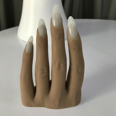 Hand Nails Model 3d Adult Mannequin Fake Hand Manicure Pedicure Display Insert Ebay