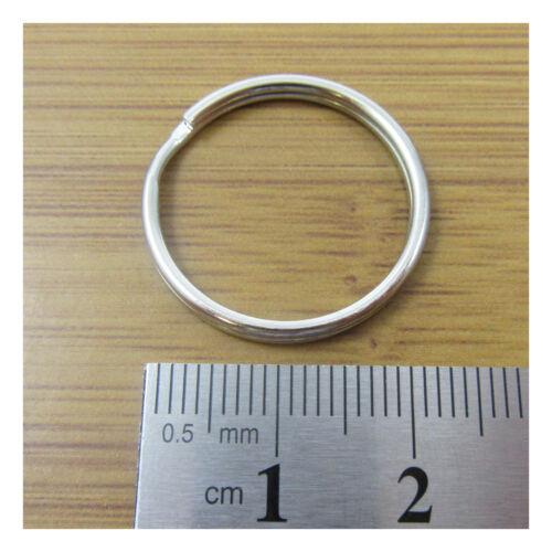 STEEL SPLIT RINGS 8mm 40mm *13 SIZES* KEY RING KEY FOB CONNECTOR UK SELLER