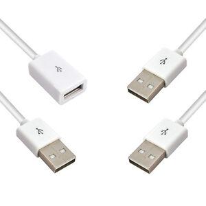 1m-2m-3m-USB-2-0-Datenkabel-USB-A-Stecker-Verlaengerungskabel-A-Buchse-Weiss