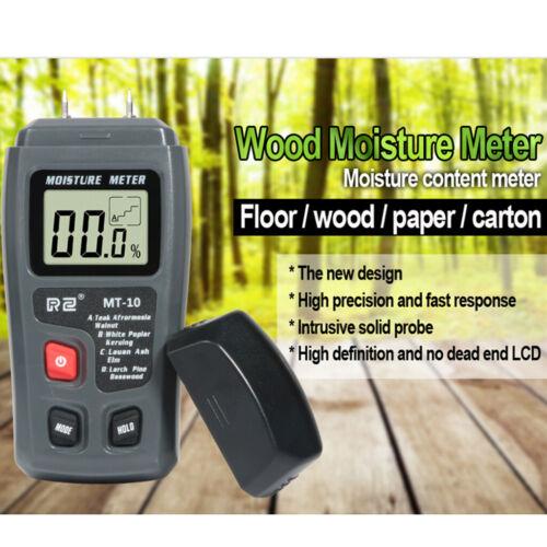 2 Pin Digital Moisture Meter Damp Detector Humidity Tester f//Wood Wall Brick