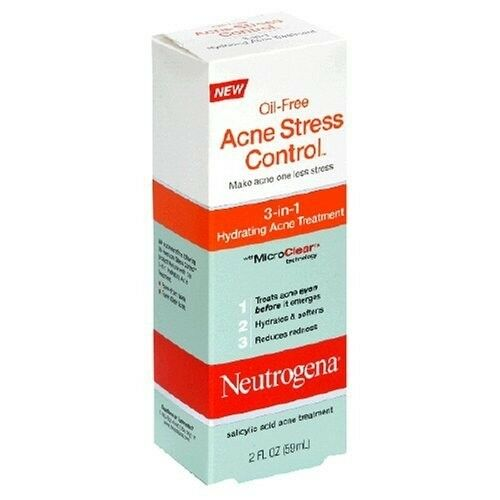 New! 3 Pack Neutrogena Acne Stress Control, 3-in-1 Hydrating Acne Treatment-2oz