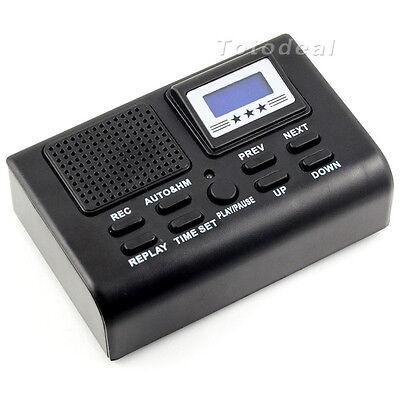 Mini Digital Telephone Recorder LCD Display SD Card Slot Phone Voice Recorder LL