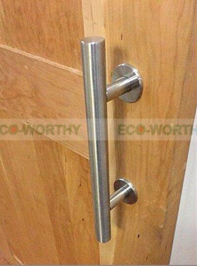 304 Stainless Steel Sliding Barn Door Handle Wood Door Handle Brushed Satin
