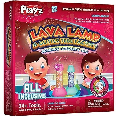 Kids Lava Lamp Glitter Tube Art Craft Science Set Boy Girl DIY Learn Tools New